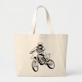 I Would Rather Be Playing In The Dirt (Black/White Jumbo Tote Bag