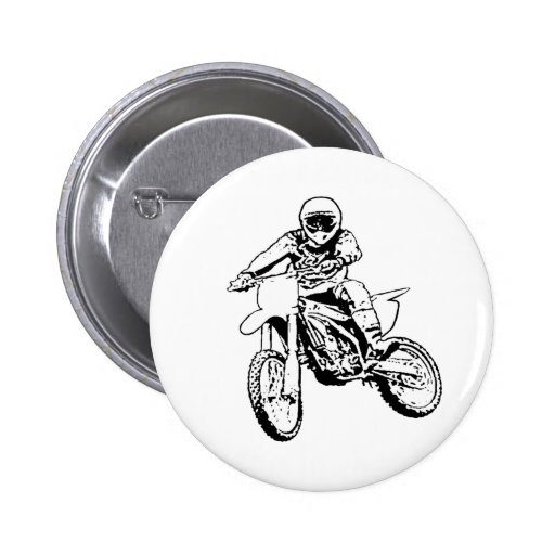 I Would Rather Be Playing In The Dirt (Black/White 2 Inch Round Button