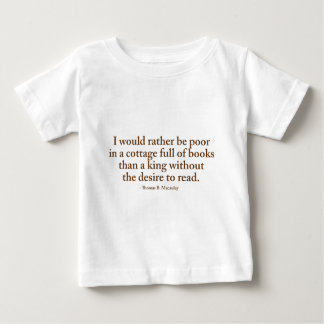 I Would Rather Be Poor Baby T-Shirt