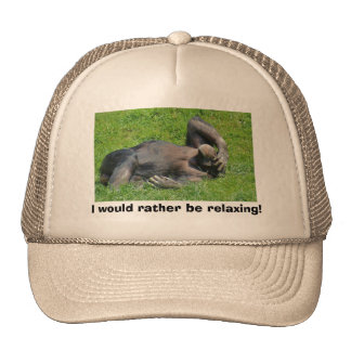 I Would Rather Be Relaxing - Humor Hat
