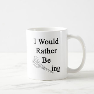 I Would Rather Be Scissoring Classic White Coffee Mug