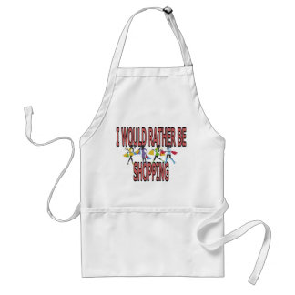 I WOULD RATHER BE SHOPPING ADULT APRON