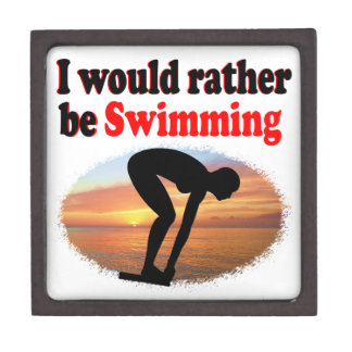 I WOULD RATHER BE SWIMMING JEWELRY BOX