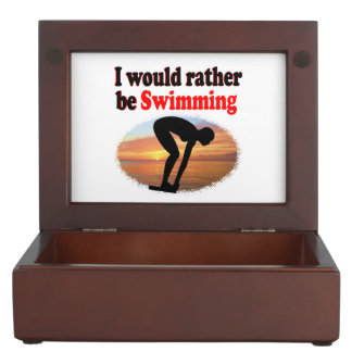 I WOULD RATHER BE SWIMMING MEMORY BOX