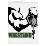I Wrestle Greeting Card
