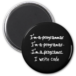 I Write Code 2 Inch Round Magnet