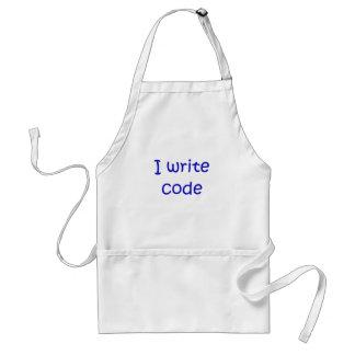 I Write Code Apron