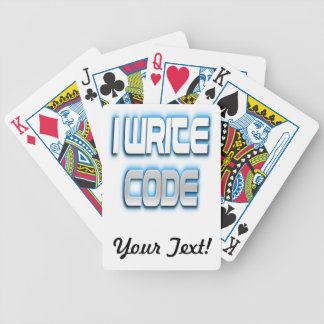 I Write Code Blue Bicycle Playing Cards