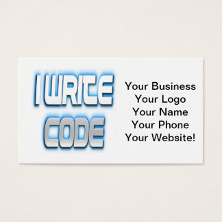 I Write Code Blue Business Card