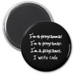 I Write Code Refrigerator Magnet