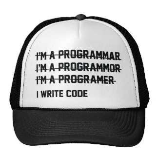 I Write Code Trucker Hat