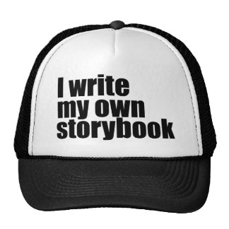 I write my own storybook trucker hat