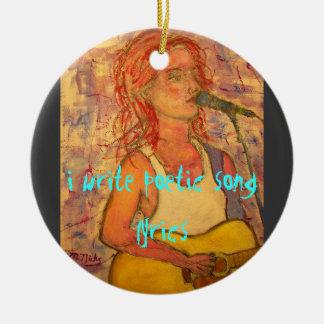 i write poetic song lyrics christmas tree ornament