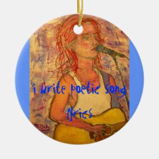 i write poetic song lyrics christmas tree ornaments