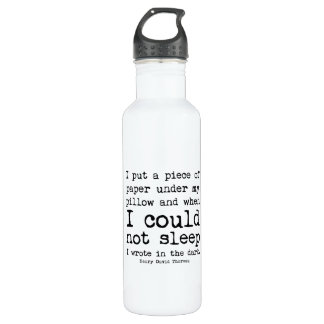 I Wrote in the Dark Thoreau Quote Water Bottle