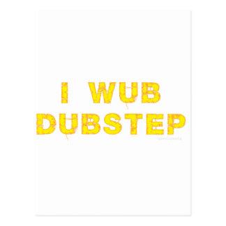 I Wub Dubstep (stiches) Postcard