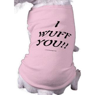 I WUFF YOU!!  LIBERTY DOG DOGGY WEAR TEE