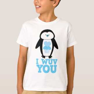 I wuv you penguin with cupcake hearts T-Shirt