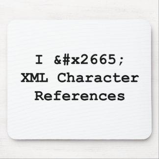 I ♥ XML Mouse Pad
