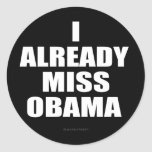 I ya Srta. Obama Pegatina Redonda