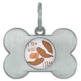 I Yam Pet Name Tag
