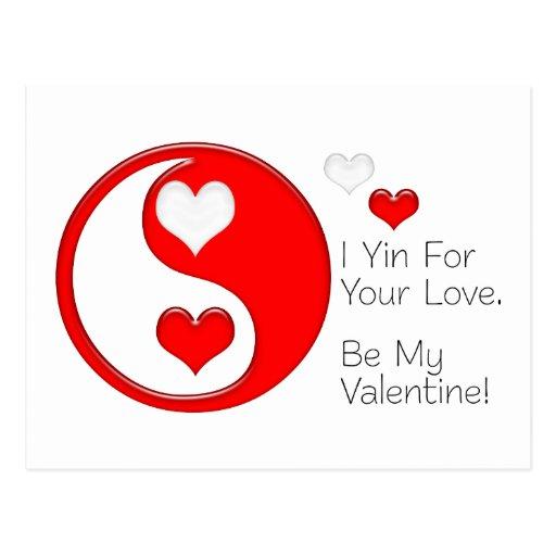 I Yin para su amor… Sea mi tarjeta del día de San Postal