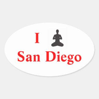 I Yoga San Diego Sticker