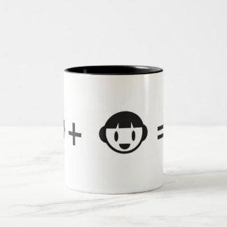 I + You = Fire Two-Tone Coffee Mug