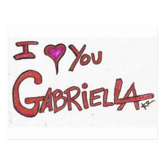 I ❤ YOU GABRIELLA POSTCARD