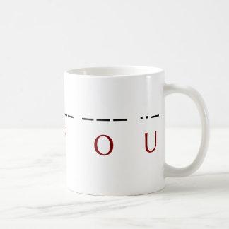 I ♥ you ·· ♥ -·-- --- ··- classic white coffee mug