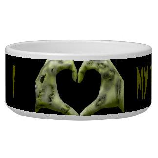 i (zombie heart) my dog pet water bowl
