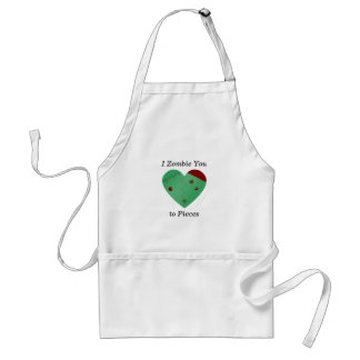 I zombie you to pieces zombie heart adult apron