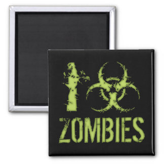 I zombis del Biohazard Imán Cuadrado