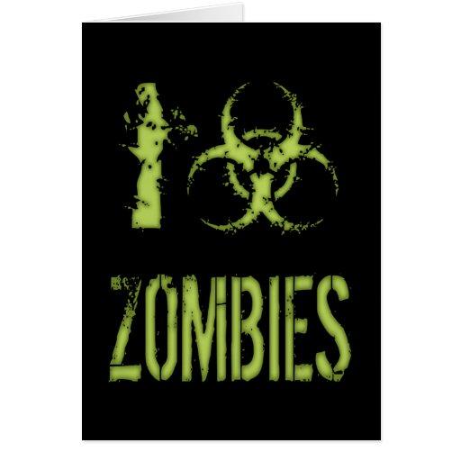 I zombis del Biohazard Tarjeta De Felicitación