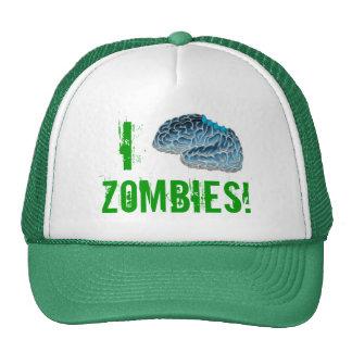 ¡I zombis del cerebro! Gorros Bordados
