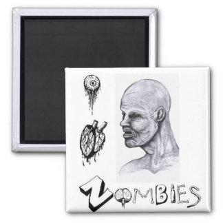I zombis del corazón (amor) imán cuadrado