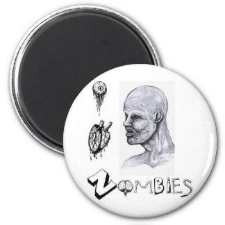 I zombis del corazón (amor) imán redondo 5 cm