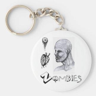 I zombis del corazón (amor) llavero redondo tipo pin