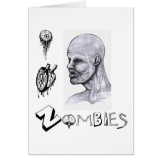 I zombis del corazón (amor) tarjeta de felicitación