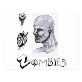 I zombis del corazón (amor) tarjeta postal
