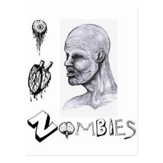I zombis del corazón (amor) tarjetas postales