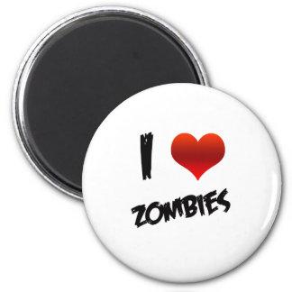 I zombis del corazón imán redondo 5 cm