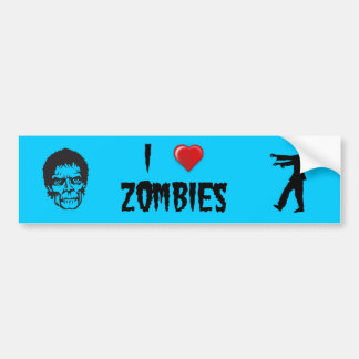 I zombis del corazón pegatina para auto
