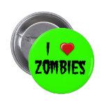 I zombis del corazón pin redondo de 2 pulgadas