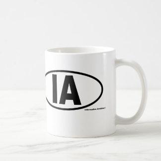 IA Information Architect Mug - Black oval logo