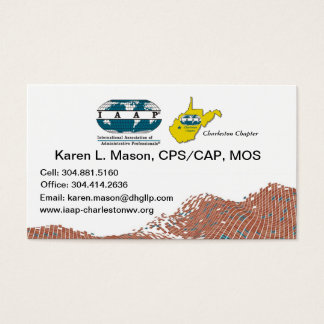 IAAP WV Chapter Business Cards