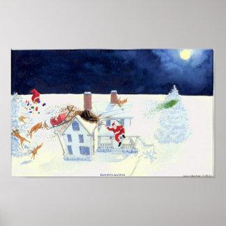 IAC Watercolor Holiday Greeting Card Poster