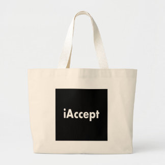 iAccept Large Tote Bag