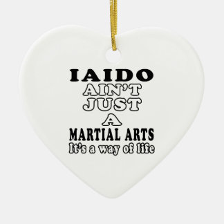 Iaido Ain't Just A Game It's A Way Of Life Ornaments