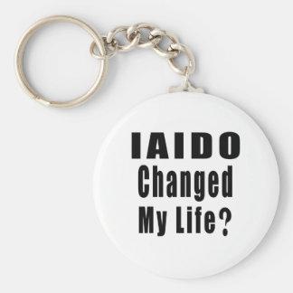 IAIDO CHANGED MY LIFE ? BASIC ROUND BUTTON KEYCHAIN